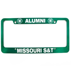 Missouri S&T Alumni Official Seal Green License Plate Frame