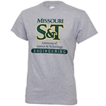 Missouri S&T Oxford Grey Engineering T-Shirt