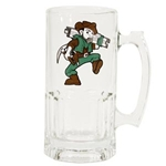 Missouri S&T Joe Miner Glass Beer Mug