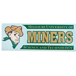 Missouri S&T Miners and Joe Miner Car Decal