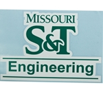 Missouri S&T Engineering Car Decal