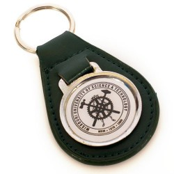 Missouri S&T Green leather seal keychain