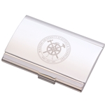Missouri S&T Official Seal Silver Business Card Holder