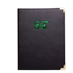 Missouri S&T Green Leather Pad Holder with Gold Medallion