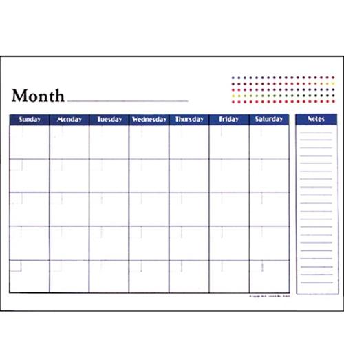 "Bazic 12 Month Undated 17"" X 22"" Desk Calendar"