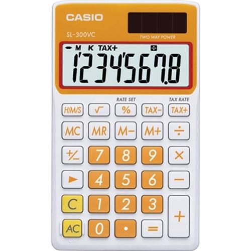 Casio SL-300VC Carrot Orange Portable Calculator
