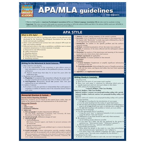 the s t store apa mla guidelines quick reference guide