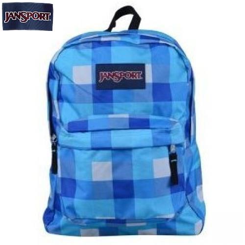 JanSport Superbreak Mammoth Blue Block Checkered Backpack Backpack  Superbreak Mammoth Blue Block Check