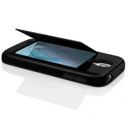 Incipio Black Stowaway Samsung Galaxy S4-1 Phone Case