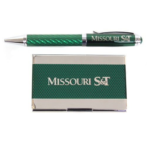 The st store missouri st green business card holder pen gift set missouri st green business card holder pen gift set reheart Gallery