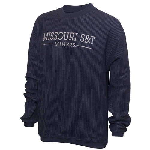 Missouri S&T Miners Navy Blue Corded Sweatshirt